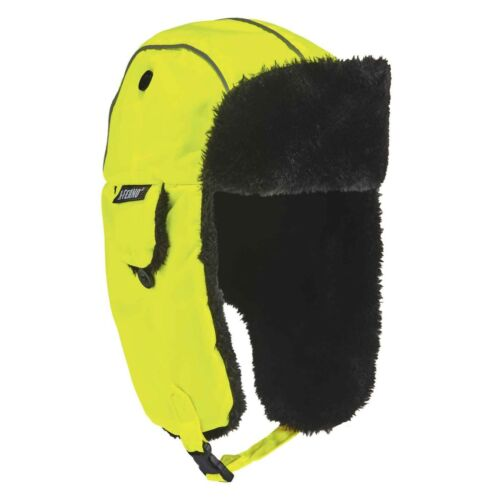 Ergodyne N-Ferno 6802 High Visibility Thermal Winter Trapper Hat Lime Size:S//M