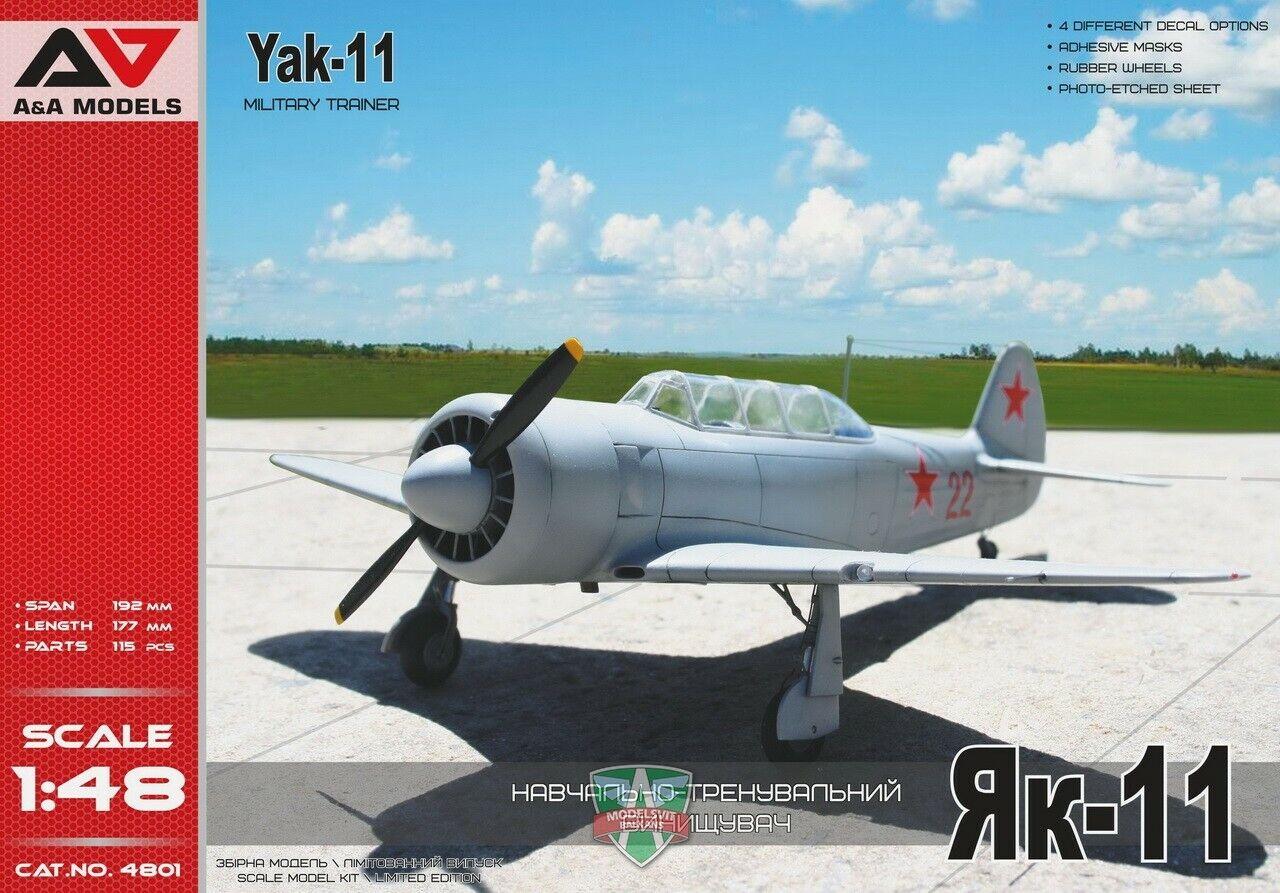 A &A modelllllerler 4801 48th skala Yak -11 Militär Tågförare