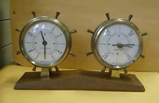 Vintage AIRGUIDE desk top weather station .Barometer, &  8 day clock