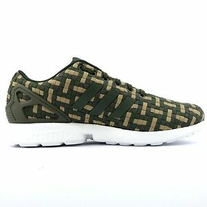 Image is loading ADIDAS-ZX-Flux-Camouflage-green-brown-camo-Textile-