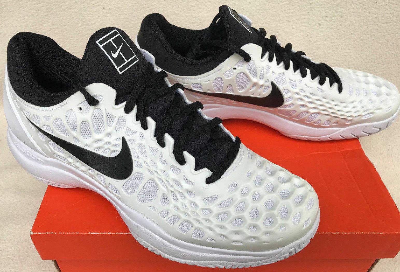 Nike Air Zoom Cage 3 HC Hard Court Tennis shoes White Black ( AJ3355-101 ) SZ 13