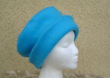 CLASSIC WOMEN/'S PURPLE POLAR FLEECE WINTER HAT WITH ROLLED BRIM med