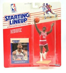 NEW NOS 1988 Charles Barkley Philadelphia 76ers Starting Lineup W/ Card H