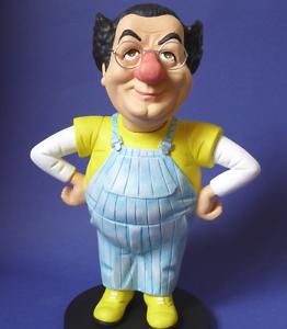COLUCHE-CARICATURE-statuette-collector-jacky-samson-figurine-prestige-humour