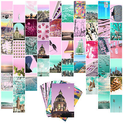 Wall Collage Kit Indie Room Decor Aesthetic 50set 4x6 Inch Vsco Girl Pictures Ebay