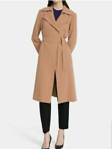 NWT Theory Belted Oaklane B Trench Coat Cosmic Blue