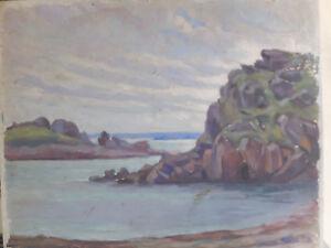 Huile Sur Panneau Côte Bretonne, Vers 1920