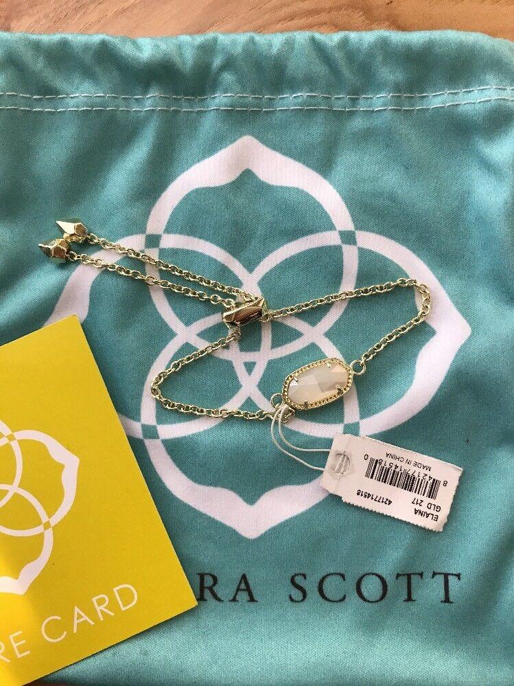Kendra Scott Elaina gold Bracelet in White Pearl - NWT - Includes dust bag
