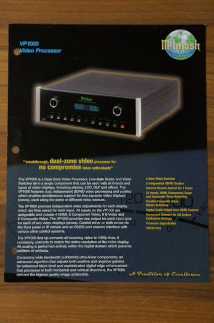 McIntosh VP1000 Video Processor brochure