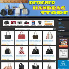 New Listingdesign Handbag Store Complete Ready Made Affiliate Website Free Domain Name