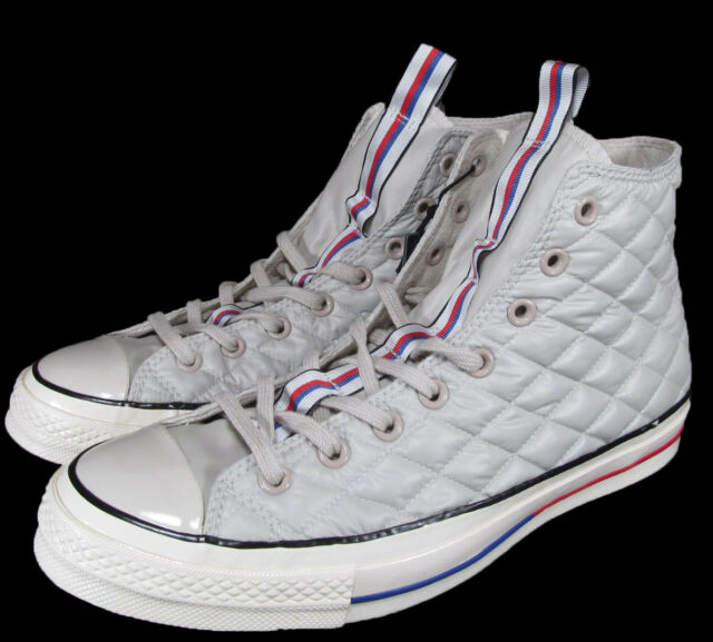 fd92da8fc568 Converse Chuck Taylor as Down Jacket Light Grey High Top SNEAKERS 147981c  Sz 10