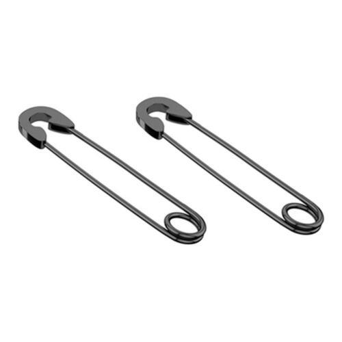 4 Pcs Fashion Punk Safety Pin Earrings Dangle Drop Stainless Steel Eardrop