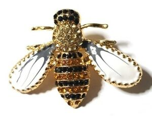 NEW-Bumble-Bee-Brooch-Rhinestone-amp-Enamel-Pin-on-Brooch-Fashion-Jewellery-Gift