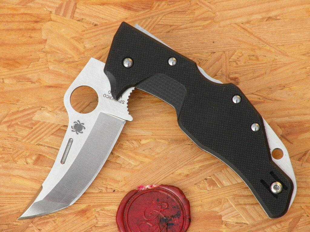 Couteau Couteau Couteau SPYDERCO c168gp Battlestation g10 Black e17b1a