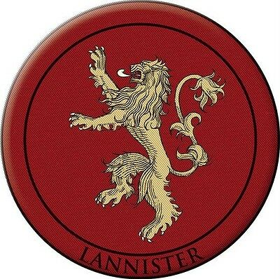 GAME OF THRONES Dark Horse New House of LANNISTER Lion Sigil Embroidered PATCH