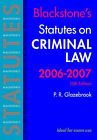 Blackstone's Statutes on Criminal Law: 2006-2007 by Peter Glazebrook (Paperback, 2006)