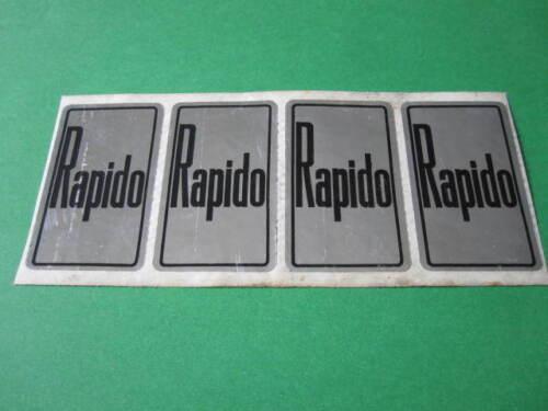 RAPIDO HEAD BADGE STICKER NOS ORIGINAL STICKERS CHOPPER LOW RIDER