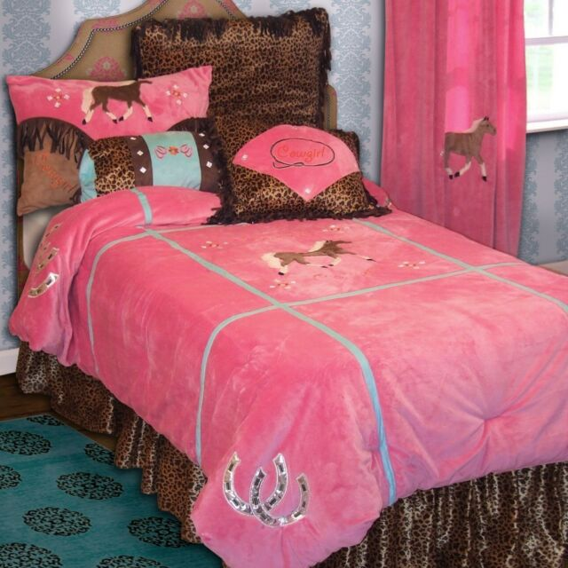 Cowgirl Leopard Bedding Set - Western - Horse - Kids -- Free  Shipping