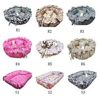 NEW 100% Cotton Handmade Pet Dog Cat Bed House Coushion mat+a pillow 9type S,M,L