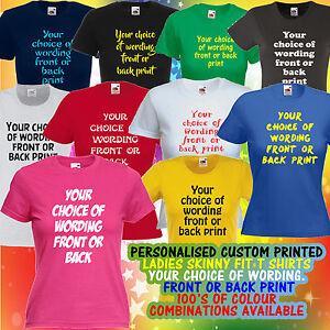 Personalised Customised Printed Skinny Lady T Shirt Design