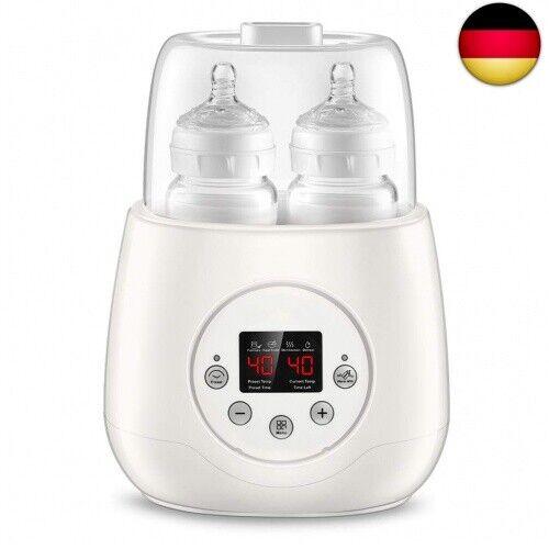 Flaschenwärmer Baby Bottle Warmer 6 in 1 Doppel Flaschen Sterilisator und