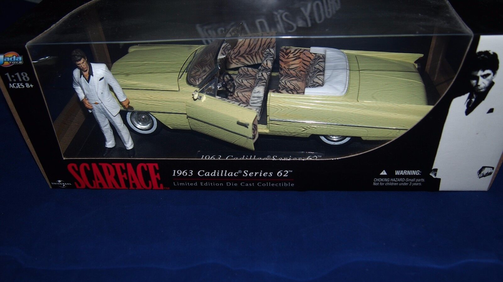 Jada 1963 Cadillac Series 62 Scarface Limited Edition 1 18 Die Cast AL PACINO