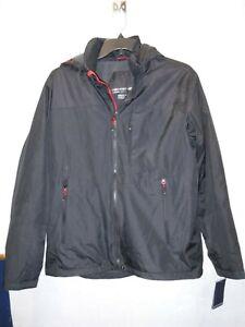 Mens Size Large Hemisphere Black Tracker Jacket Midweight