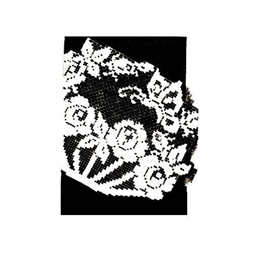 Vintage Filet Crochet Pattern ~ Rose /& Butterfly