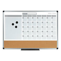 Mastervision 3-in-1 Calendar Planner Dry Erase Board 36 X 24 Silver Frame on sale