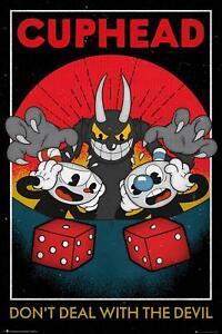 Cuphead Poster Craps 61 x 91,5 cm Wanddeko Computerspiel Deko Plakat Merch Gamer