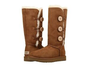 Women-039-s-Shoes-UGG-BAILEY-BUTTON-TRIPLET-II-Sheepskin-Boots-1016227-CHESTNUT
