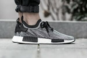 e056aa31f3603 Adidas NMD R1 PK Glitch Grey Oreo S79478 black white sz 11.5 US