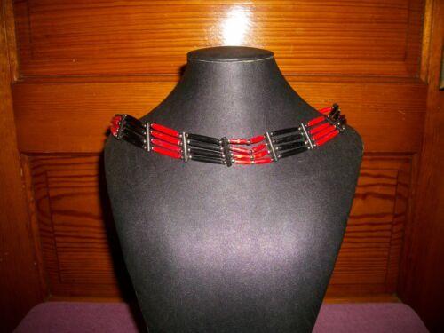 BEAUTIFUL Native American Style FINE Choker necklace 4 strand bead jewelry NICE