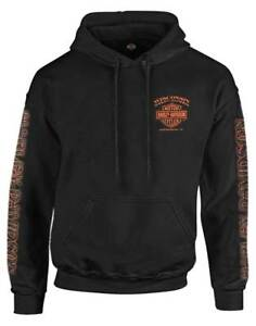 Harley-Davidson-Men-039-s-Eagle-Piston-Long-Sleeve-Pullover-Hoodie-Black-30299949