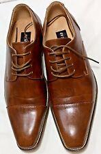 UV Signature Men's Cap-Toe Derby Dress Shoes:- Size 12 - Rusty Brown Formal Wear
