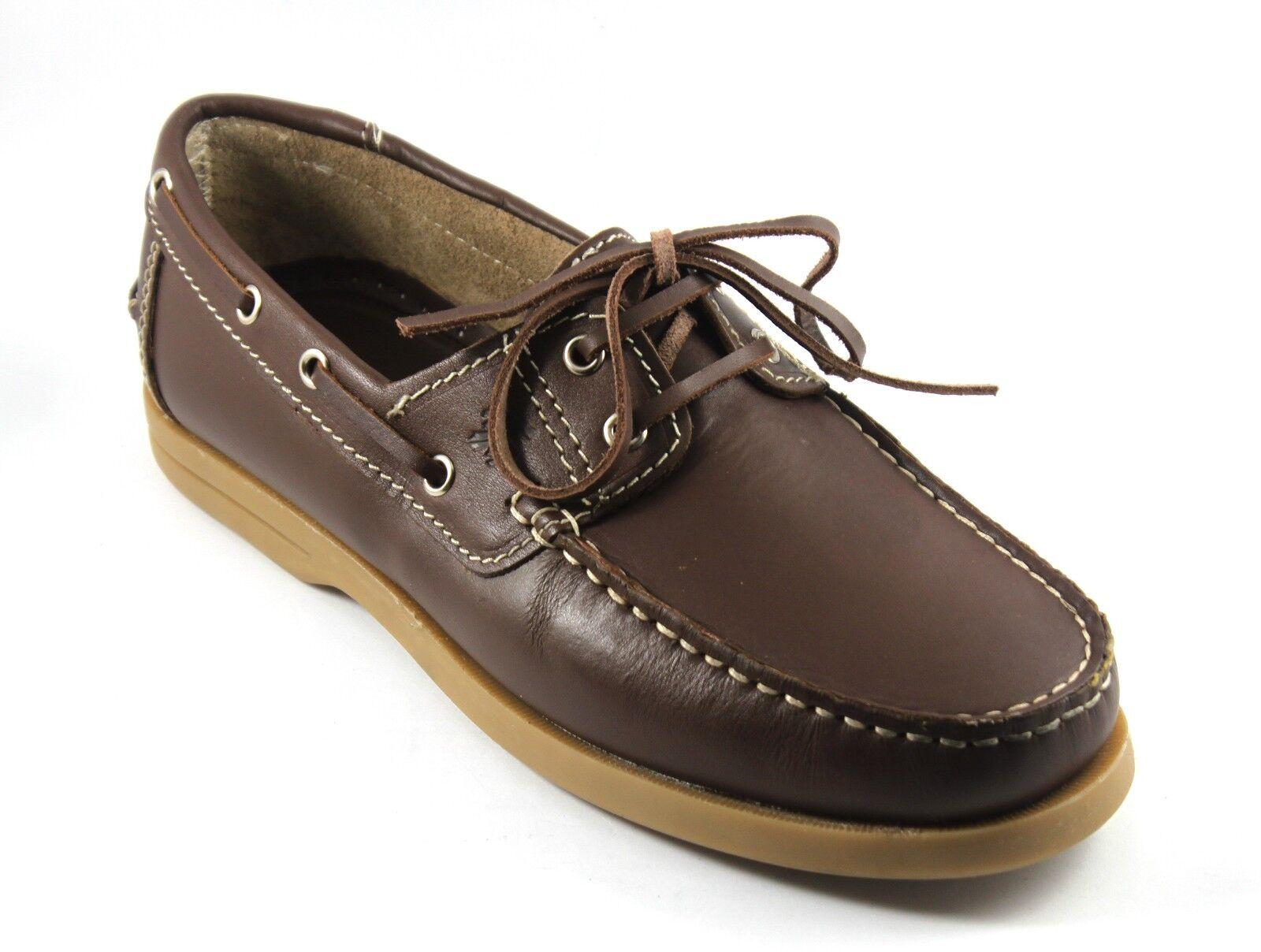 shoes men ALLACCIATE CASUAL MODELLO BARCA IN PELLE brown MOLINOLINE n. 43