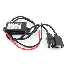 Dual 2 USB DC-DC Módulo Conversor Cargador de coche 12V a 5V 3A 15W Adaptador de Alimentación 16