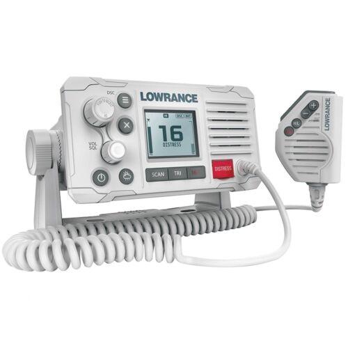 White Lowrance Link-6 DSC VHF Marine VHF Distress button NMEA0183