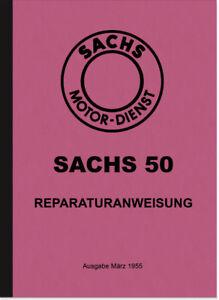 Sachs-50-ccm-47-2-Gang-Motor-Reparaturanleitung-Werkstatthandbuch-Repair-Manual