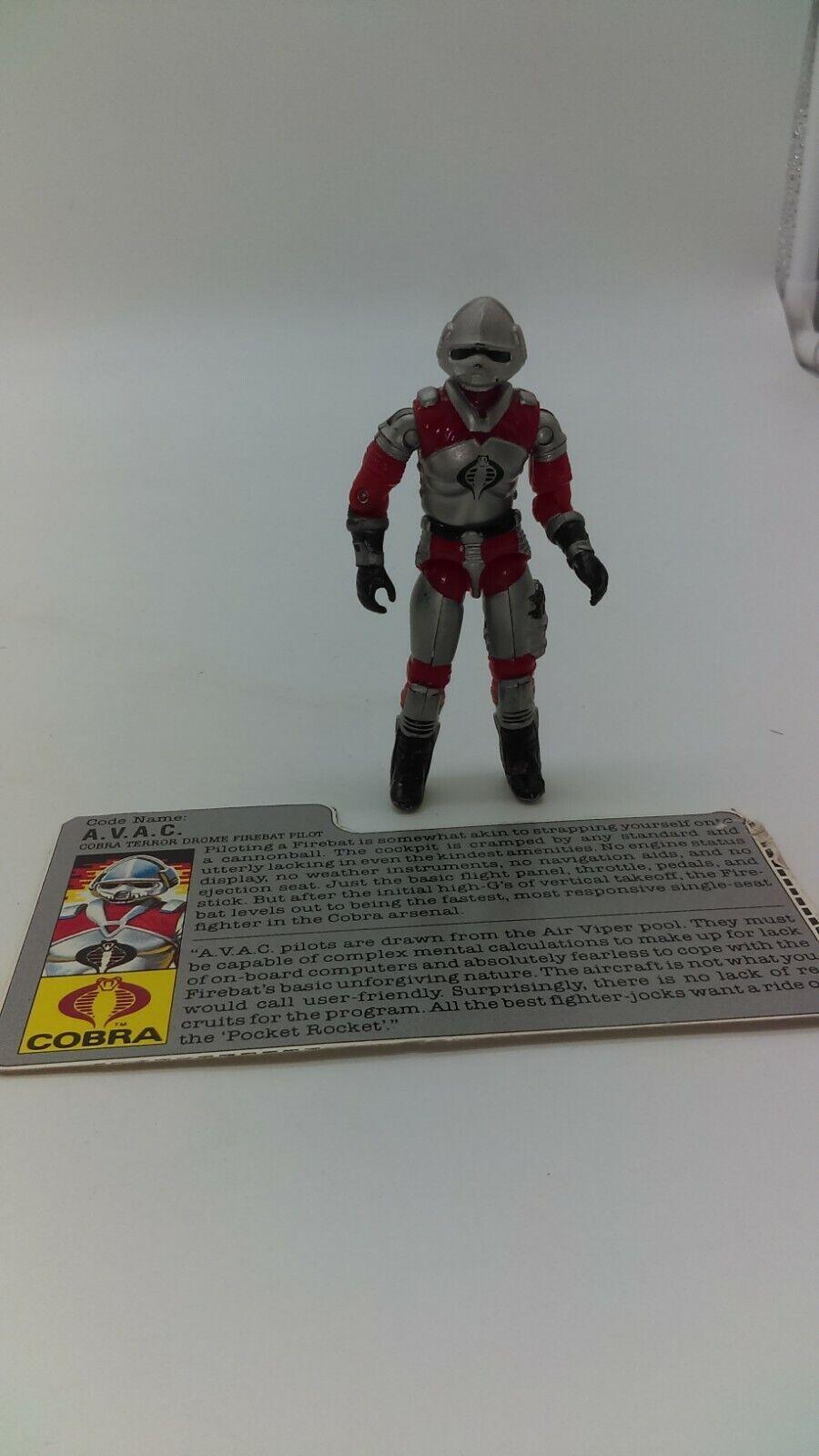 Vintage 1986 Hasbro G.I. JOE ARAH Cobra AVAC Terror Drome Pilot w  Filecard