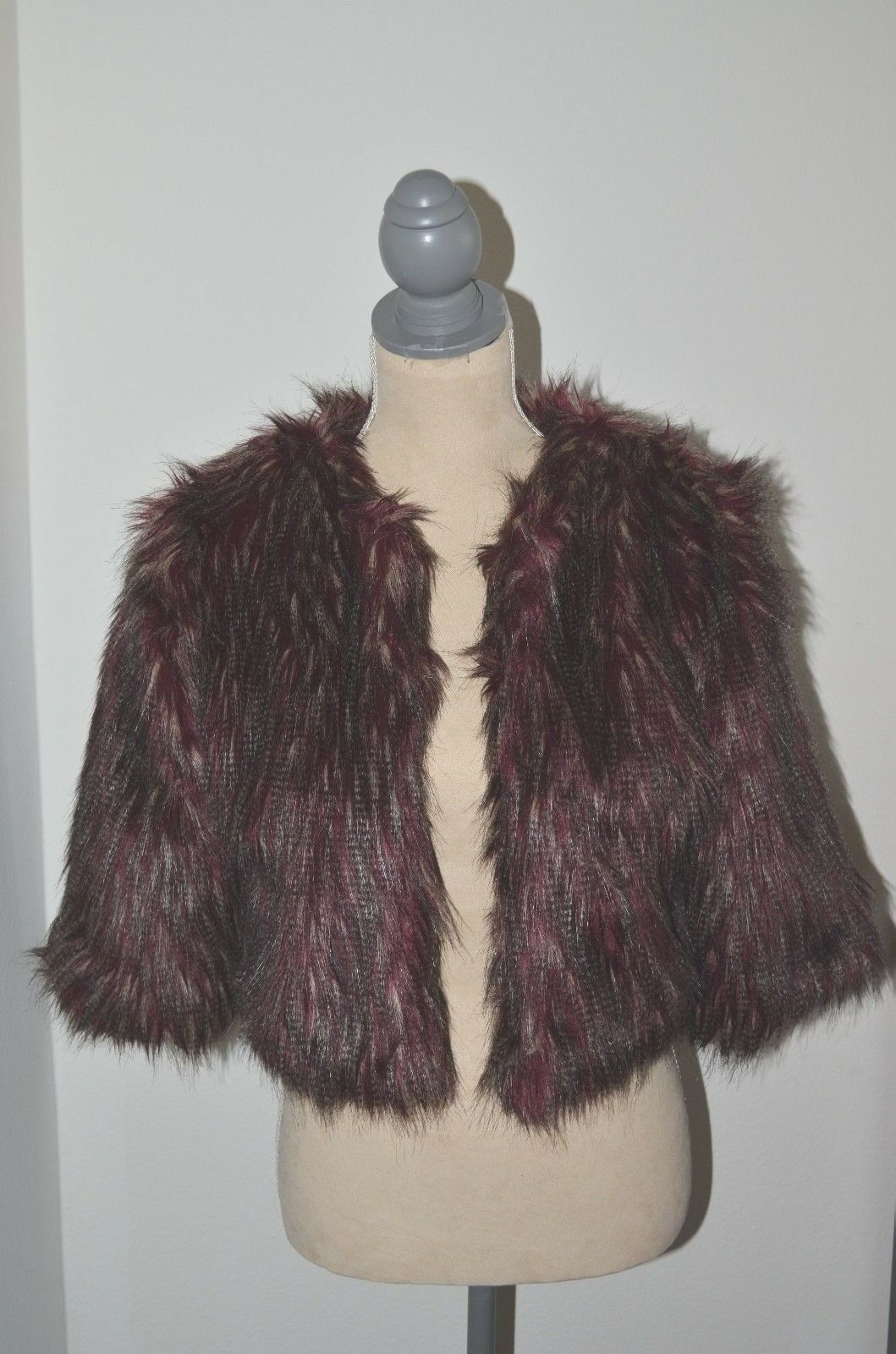 Romeo and Juliet Couture Faux Fur Jacket, Small