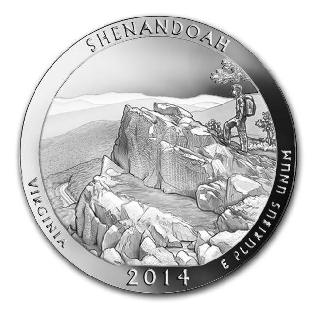 2014 5 oz Silver ATB Shenandoah National Park, VA - SKU #80980