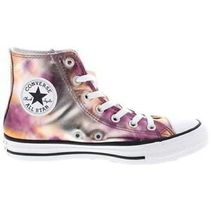Converse All Star Hi Womens Classic Canvas High Top Trainers Shoes ... 359f6bf0662