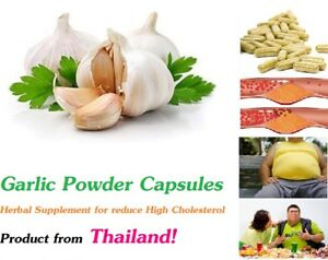 Garlic Powder Capsule Herbal Supplement For Reduce High Cholesterol