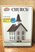 MODEL POWER N SCALE BUILDING KIT CHURCH
