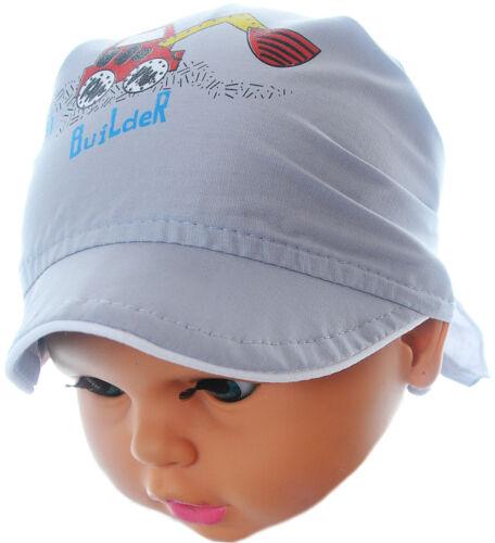 Kopftuch Baby Sommer Mütze Mützchen Kopfbedeckung Bandana zum binden KU 36-44cm.