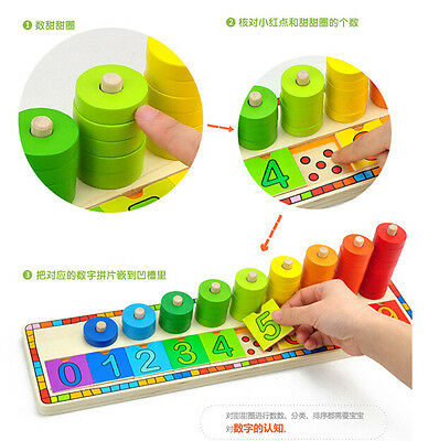 Montessori wooden toy gift teaching logarithmic board match game math learning