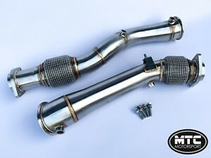 MTC MOTORSPORT BMW X3M X4M COMPETITION STAINLESS STEEL DECAT DOWNPIPES EXHAUST