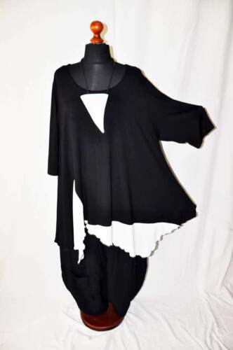 °° jersey Maillot Tunique Obsession xl blanc en °° My noir en °° Lagenlook xxxl jersey xxl 5z8qfwYq