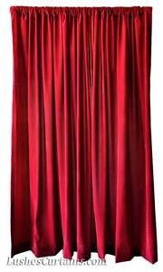 High Studio Hall Theater Backdrop Drapes Burgundy Velvet 11ft Curtain Long Panel